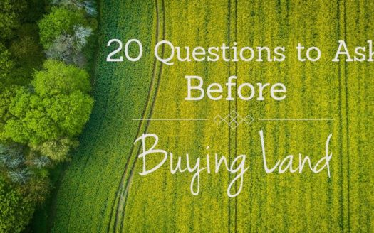 20 questions to ask when buying land
