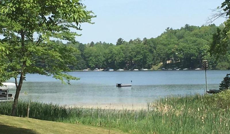 Northwest Michigan lakefront lot for sale